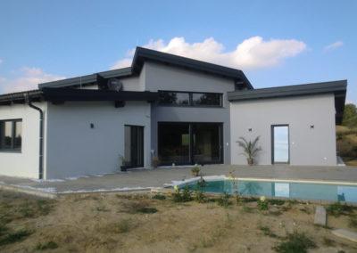 Perndorfer Einfamilienhaus mit 3Dpanel Flachdach